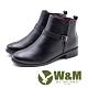 W&M 簡約素面小釦飾 拉鍊短靴 女鞋 - 黑(另有淺咖) product thumbnail 1