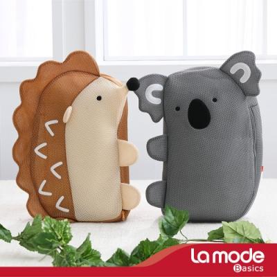 La mode寢飾 立體造型收納洗衣袋2入組(灰熊騎士/刺蝟公爵)