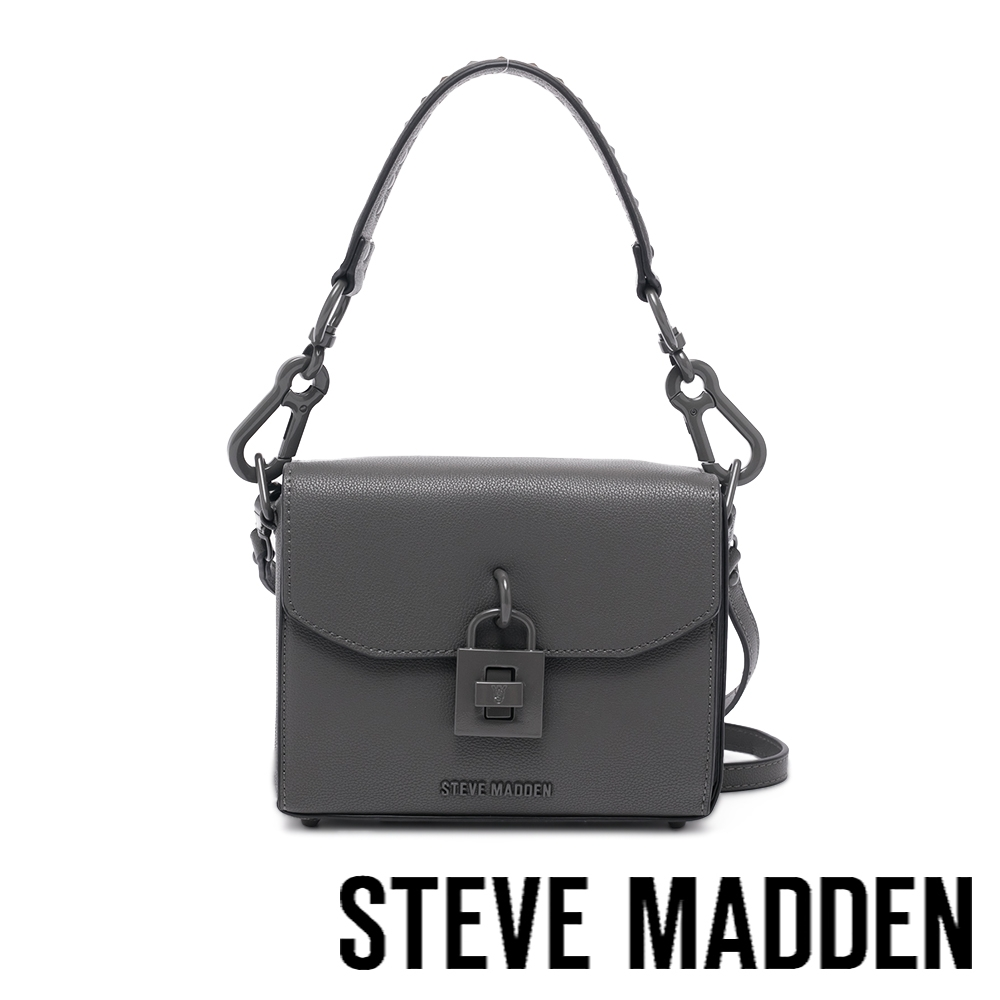 STEVE MADDEN-BEMBRY 鑰匙鎖方形相機包-大象灰