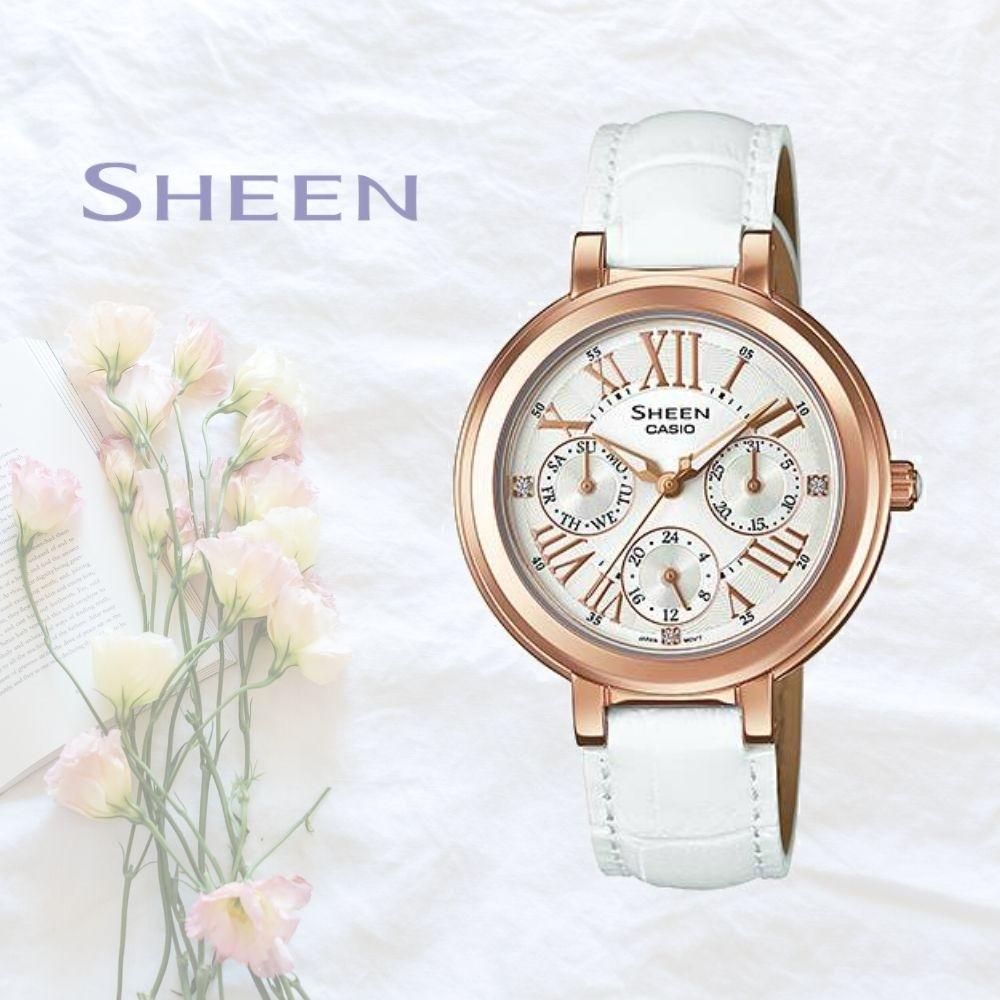CASIO卡西歐 優雅迷人風采腕錶(SHE-3034GL-7A)