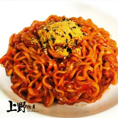 【上野物產】韓國人氣 甜辣開胃辣醬炒麵(300g±10%/麵體+醬料/包)x16包