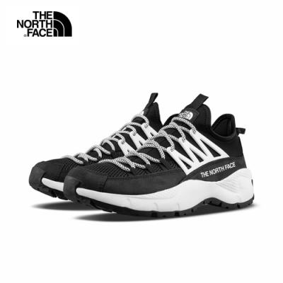 The North Face北面男款黑白色抓地耐磨休閒鞋|4O98KY4