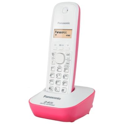 Panasonic 2.4G 數位高頻無線電話KX-TG3411-蜜桃紅