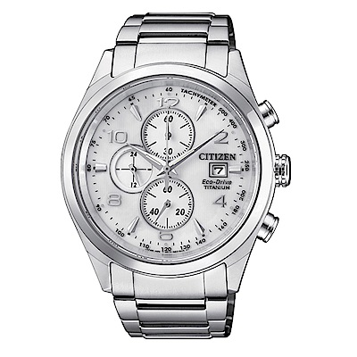 CITIZEN 超級 鈦計時碼錶(CA0650-82A)男錶