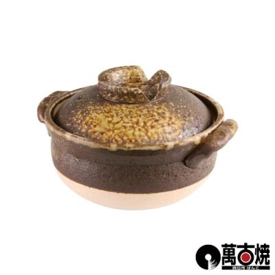 日本伊賀吹附蓋雜炊砂鍋-5號-0.9L-日本製17cm