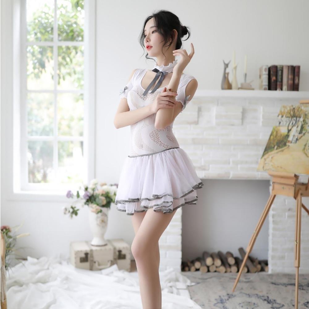 Sexy angel白色公主系列蕾絲連身裙性感火辣情趣睡衣情趣內衣角色扮演服