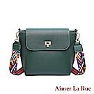 Aimer La Rue 伊麗絲彩色織帶素面側背斜背包(三色)
