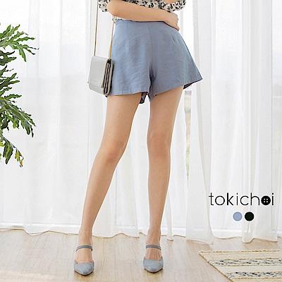 東京著衣-內斂性格後拉鍊高腰A字西裝短褲-S.M.L(共兩色)