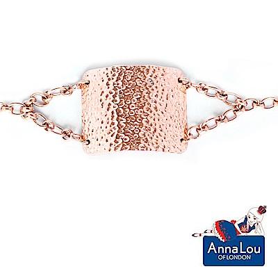 Anna Lou OF London 倫敦品牌 Hammered 錘擊質感玫瑰金手鍊