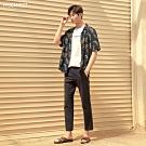 H:CONNECT 韓國品牌 男裝-夏日鳳梨短袖襯衫-黑