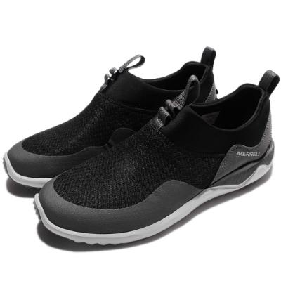 Merrell 戶外鞋 1Six8 Mesh Moc 男鞋 越野 登山 襪套 避震 輕量 低筒 黑 灰 ML91363