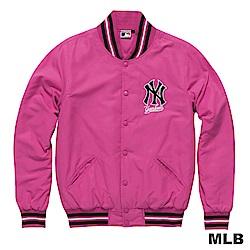 MLB-紐約洋基隊鋪棉玩色棒球外套-粉紅(男)