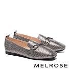 平底鞋 MELROSE 舒適百搭閃耀水鑽方頭平底鞋-古銅