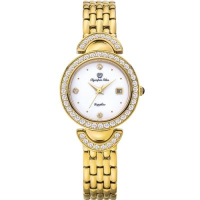 Olympia Star 奧林比亞之星 晶燦時光時尚腕錶-金 28025DLK