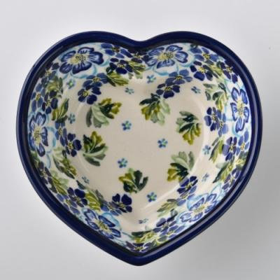 波蘭陶 青藍夏日系列 愛心造型烤盤 波蘭手工製