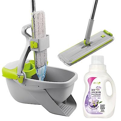 JoyLife嚴選 免手洗不髒手魔布平板拖把送小蒼蘭香氛地板清潔濃縮凝露