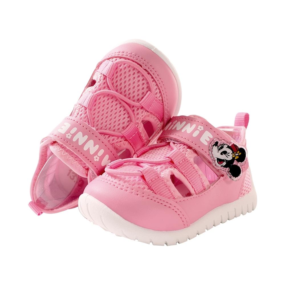 女童鞋 台灣製迪士尼米妮授權正版透氣網布休閒涼鞋sk0997 魔法Baby