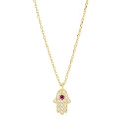 Orelia英國品牌 Hamsa水晶手掌金色項鍊