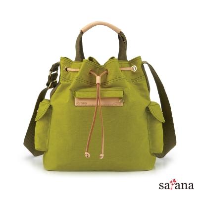 satana - 小抽繩水桶包 - 檸檬香茅