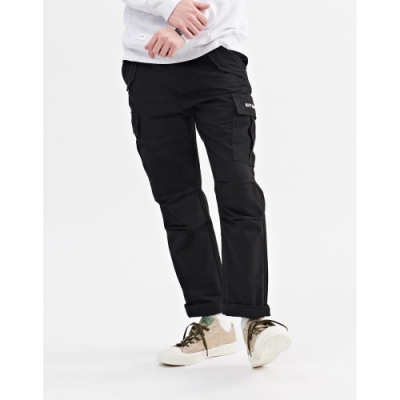 NAVY-貼袋錐形工作褲(三色)-情侶款-男【A1NA013】