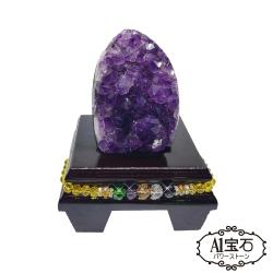 A1寶石 頂級烏拉圭天然紫晶鎮/陣450g(贈開運三寶)