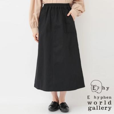 E hyphen 斜紋面料舒適長裙