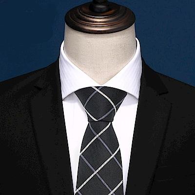 拉福   格灣8CM寬版領帶拉鍊領帶