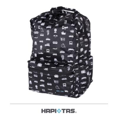 【HAPI+TAS】摺疊手提後背包─黑色交通運輸