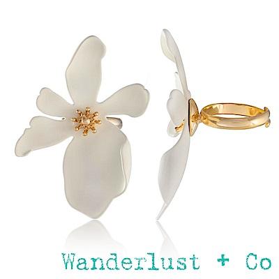 Wanderlust+Co山茶花戒指 - 象牙白