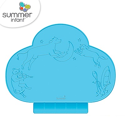 美國 Summer Infant 可攜式防水學習餐墊 粉藍