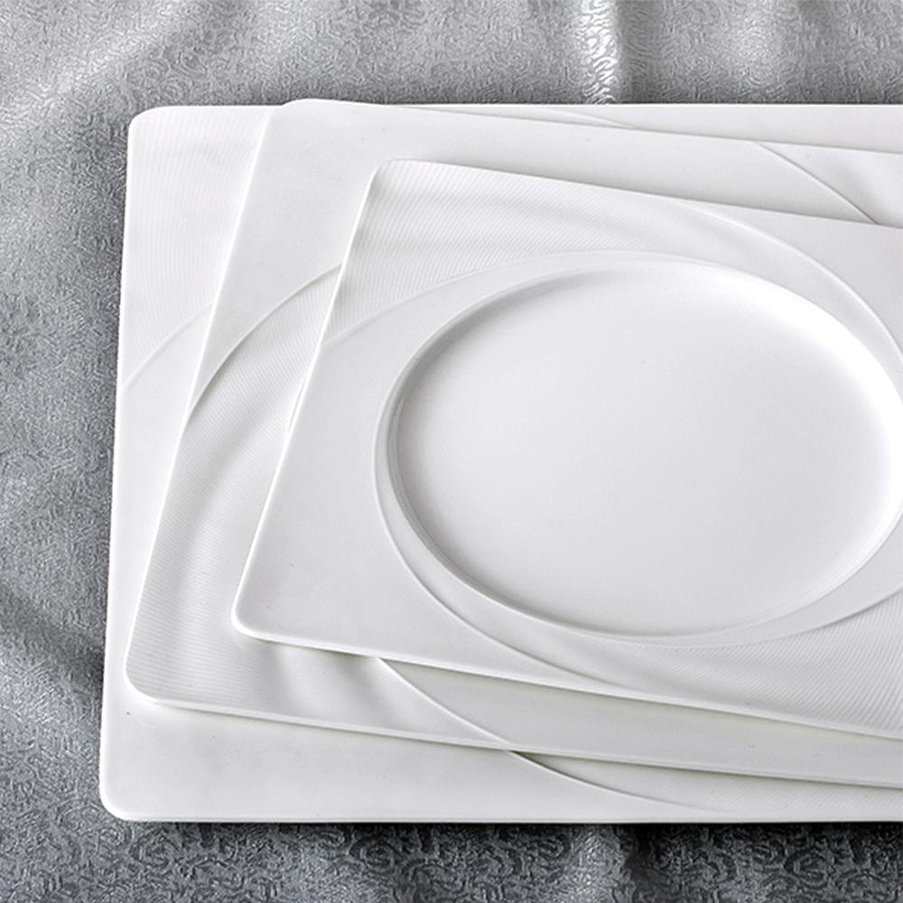 Royal Duke純淨骨瓷西式方盤/平盤/餐盤三件組(時尚簡約設計)