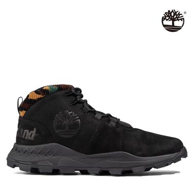 Timberland 男款黑色Brooklyn磨砂革健行靴|A2GDV015