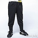 Mini Jule 褲子 滿版菱形鬆緊縮口厚棉長褲(黑)