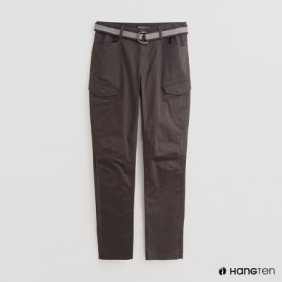 Hang Ten - 男裝 - 附腰帶時尚風造型長褲 - 灰