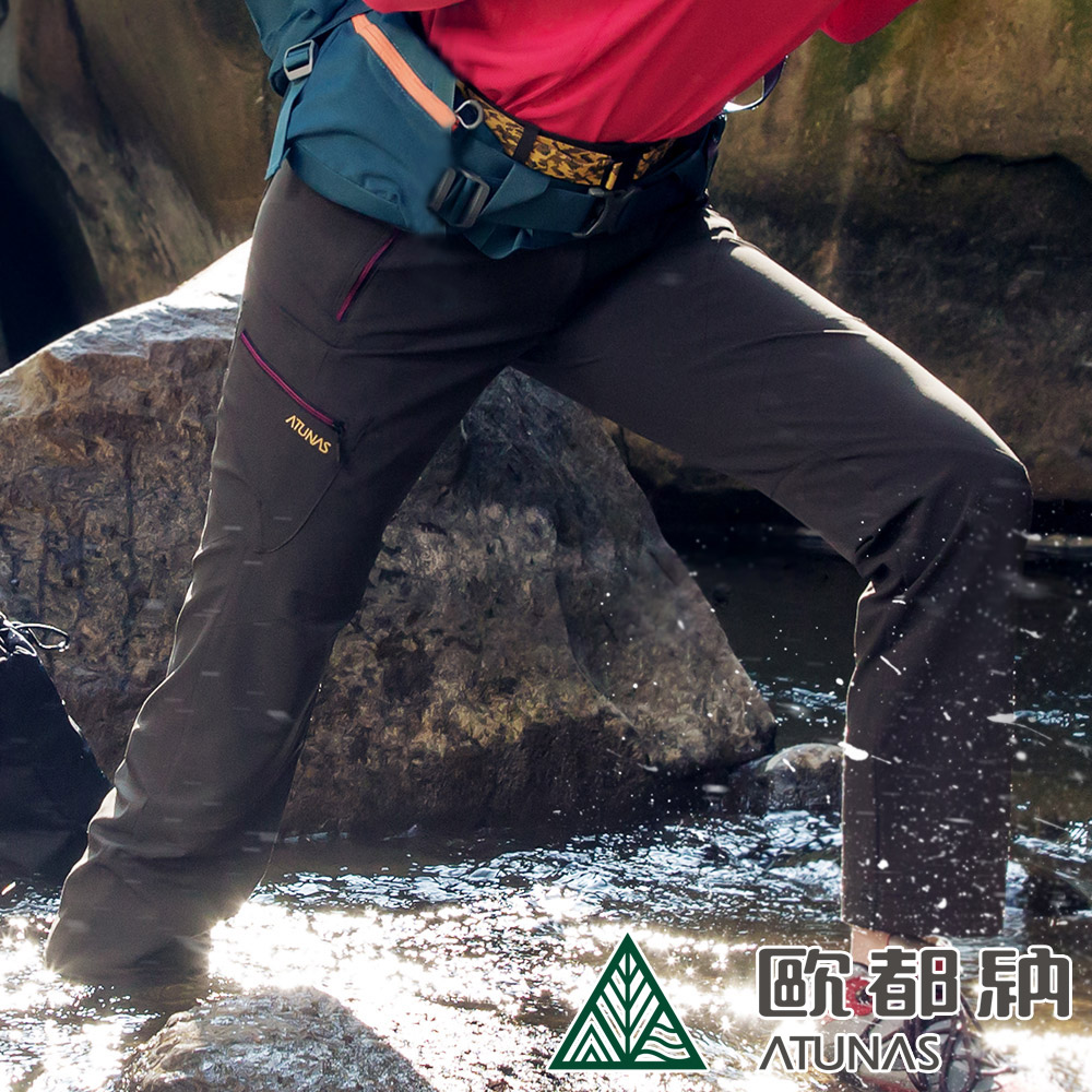 【ATUNAS 歐都納】女款CORDURA耐磨長褲(附腰帶)A-PA1902W橄綠