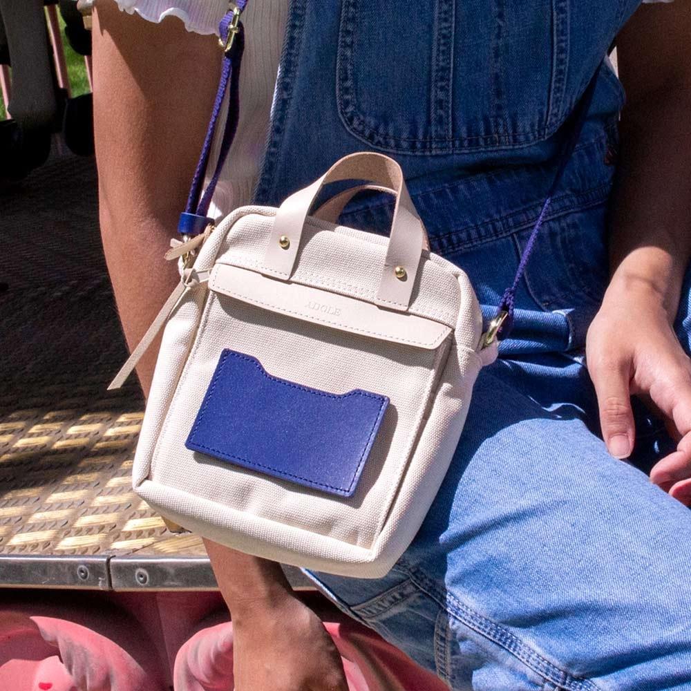 【IBAOBAO愛包包】ADOLE ADAY悠遊隨行小包/米+藍