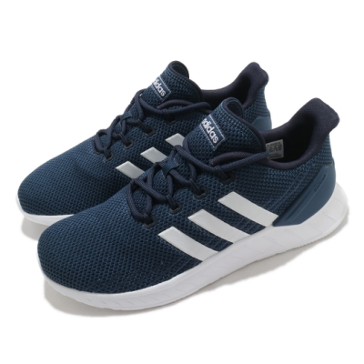adidas 慢跑鞋 Questar Flow 運動 男鞋  愛迪達 輕量 透氣 舒適 避震 球鞋 藍 白 FY9561