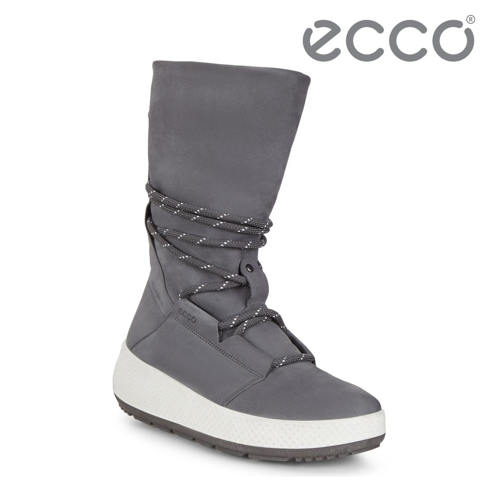 ECCO UKIUK 2.0 冬季極致保暖機能雪靴 女-深灰