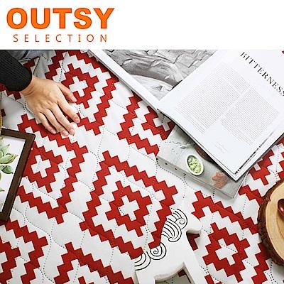 【OUTSY嚴選】巨大特厚鋪棉野餐墊/帳篷地墊-捷克小鎮 (隧道帳適用)
