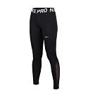 NIKE 女緊身長褲-路跑 慢跑 緊身褲 健身 訓練 黑白