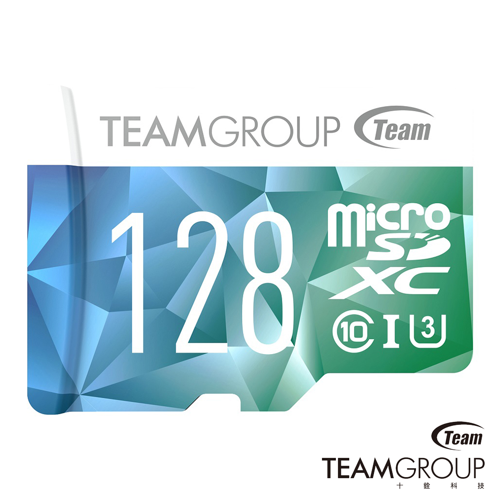 TEAM十銓 Color Card Micro SDXC 128G U3 記憶卡(附轉卡)