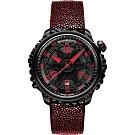 BOMBERG 炸彈錶 BB-01 系列限量骷髏魅影機械錶-紅x黑/43mm