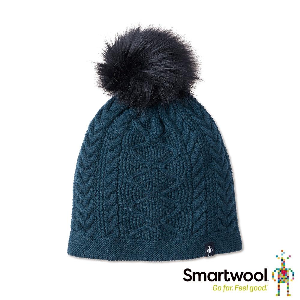SmartWool Bunny Slope 麻花保暖毛帽 霧灰藍