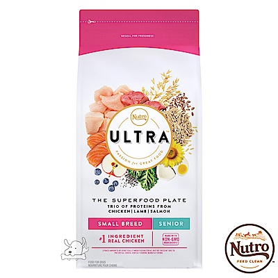 【Nutro 美士】ULTRA 大地極品 小型犬高齡養生配方 4磅