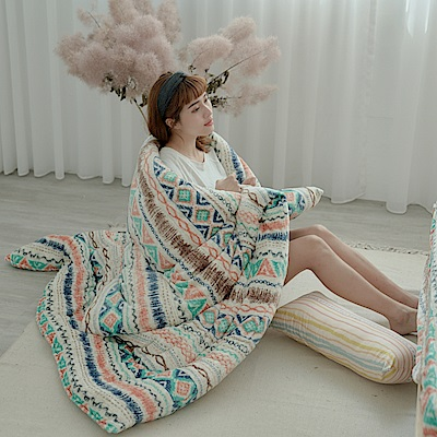 AmissU 北歐送暖法蘭絨暖暖被(150x200cm) 卡洛之舞