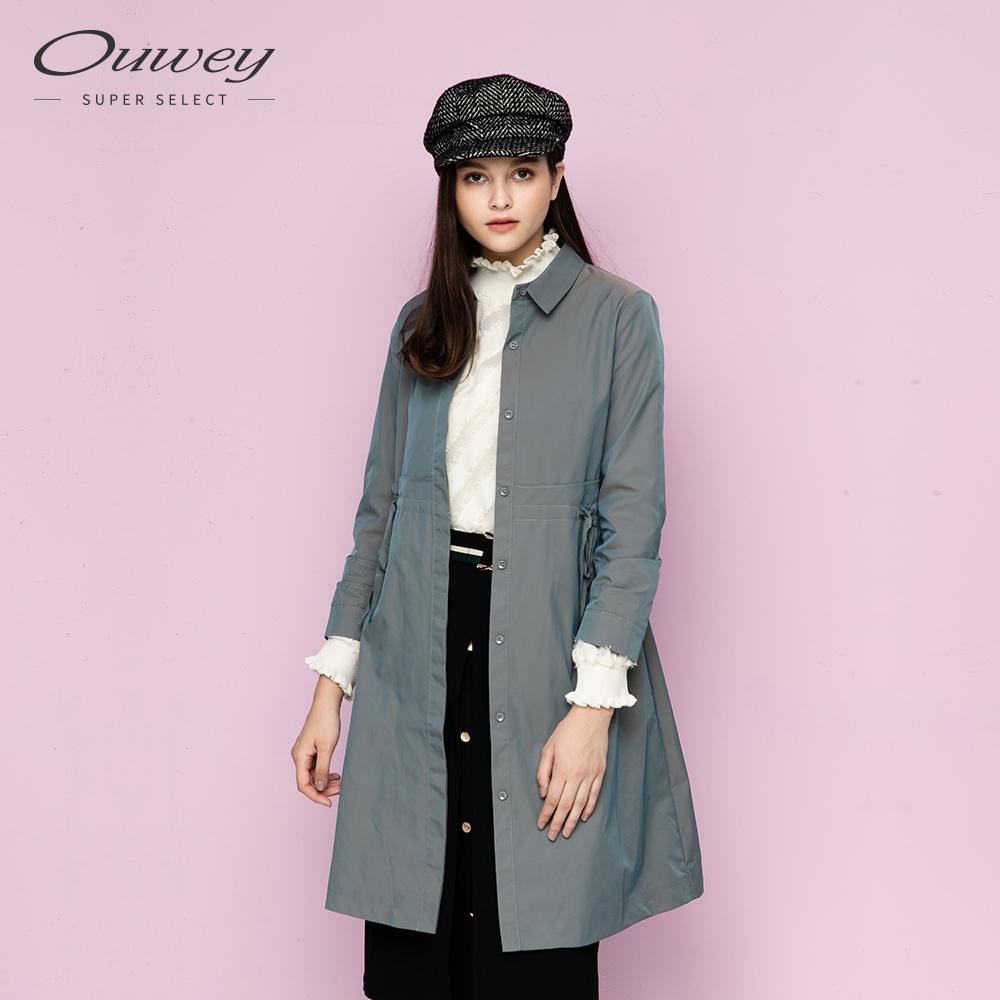 OUWEY歐薇 炫彩綁帶長版外套(藍) @ Y!購物
