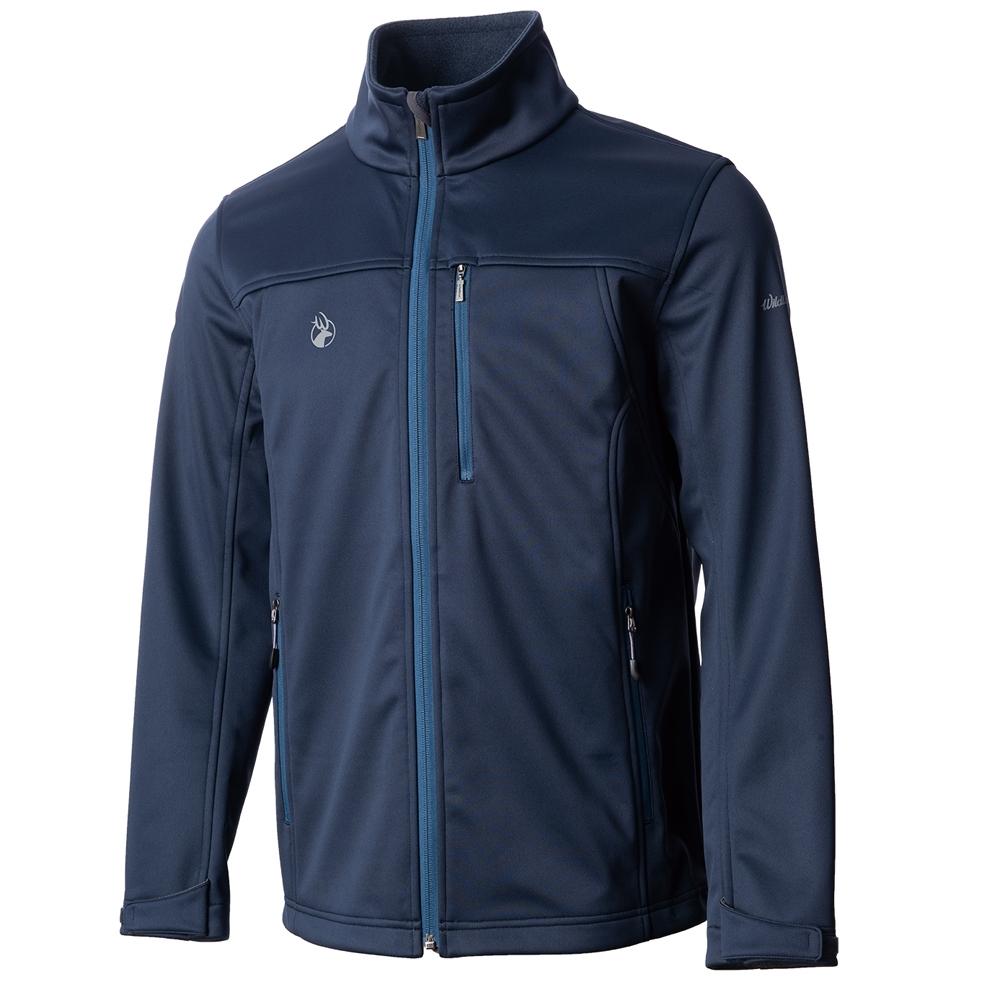 【WILDLAND荒野】男三層貼防風保暖功能外套深藍色
