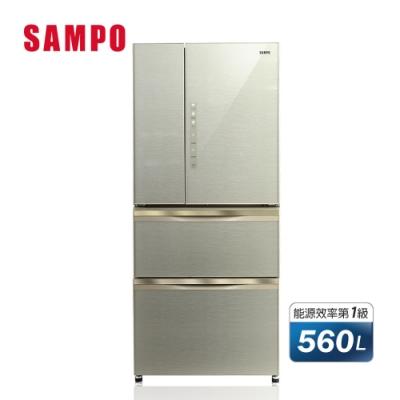 [福利品] SAMPO聲寶 560公升1級變頻四門冰箱 SR-A56GDD(Y7) 琉璃金