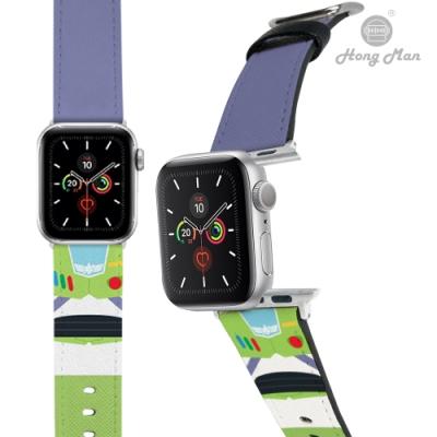 【Hong Man】迪士尼系列  Apple Watch 皮革錶帶 經典巴斯 42/44mm