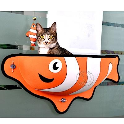dyy》小丑魚貓咪寵物吸盤吊床|睡床一入